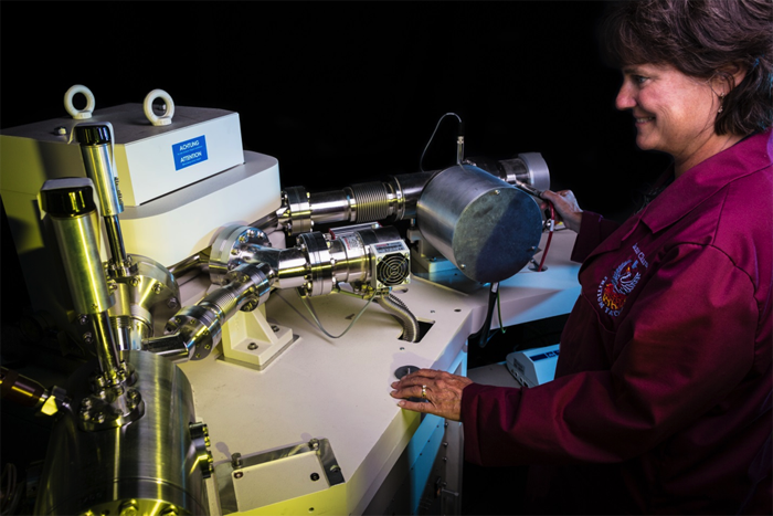A magnetic sector gas mass spectrometer